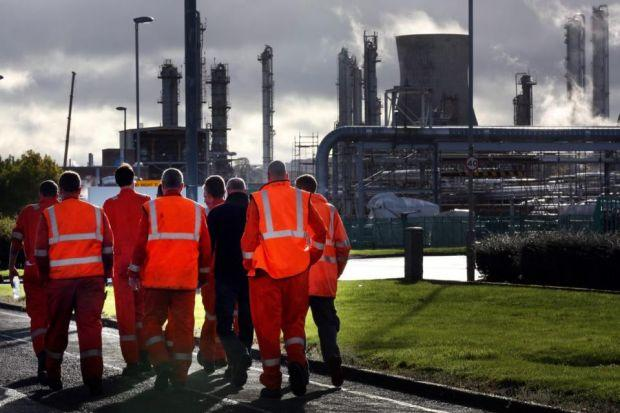 SECURITY: Unions at the petrochemical plant welcomed the investment but stressed there was still resentment among the workforce following last year's dispute. Picture: David Cheskin/PA
