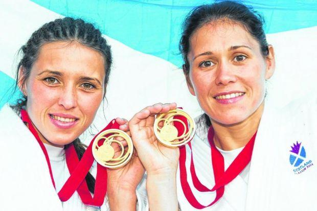 Kimberley and Louise Renicks each won a gold medal in judo