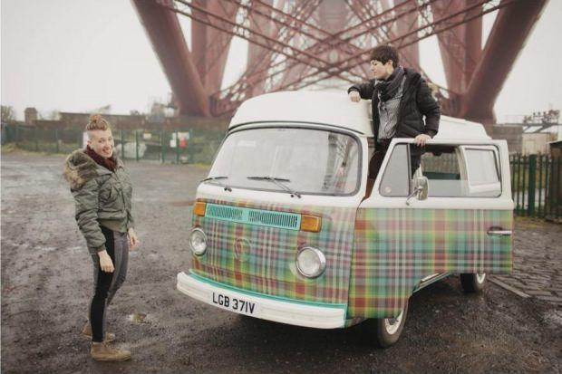 Vana Coleman and Fi Scott toured Scotland in a VW Campervan visiting manufacturers including weavers Peter Greig & Co in Kirkcaldy. Photographs: Ross Fraser McLean