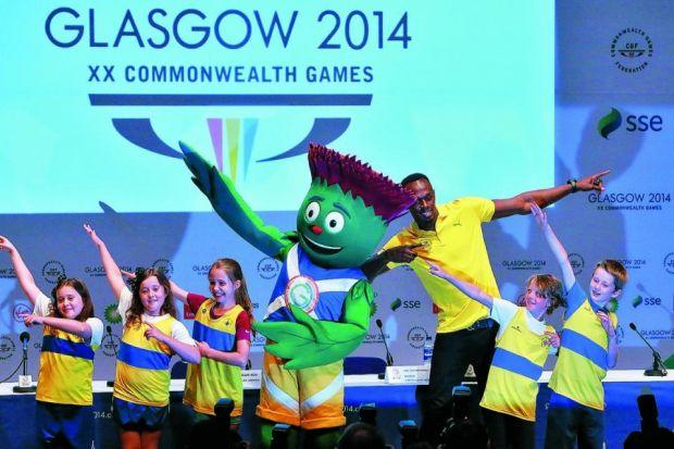 Usain Bolt was in jovial mood at the SECC in Glasgow  Photograph: Stewart Attwood