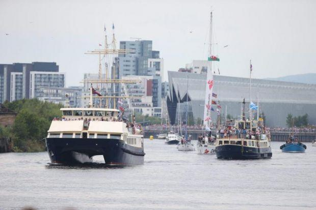 RIVER SUCCESS: The flotilla saw some 250 boats sail up the Clyde from Greenock.