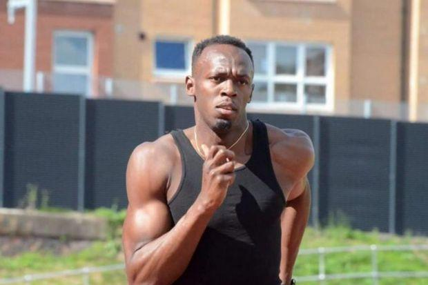 FASTEST: Usain Bolt has been staying at the Athletes Village.