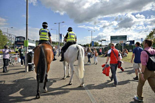 ON DUTY: But there have been claims about conditions for police working at the Games.