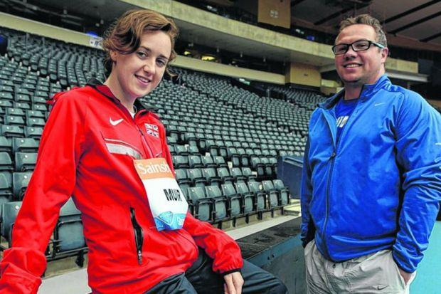 Laura Muir and her coach Andy Young. Picture: Nick Ponty