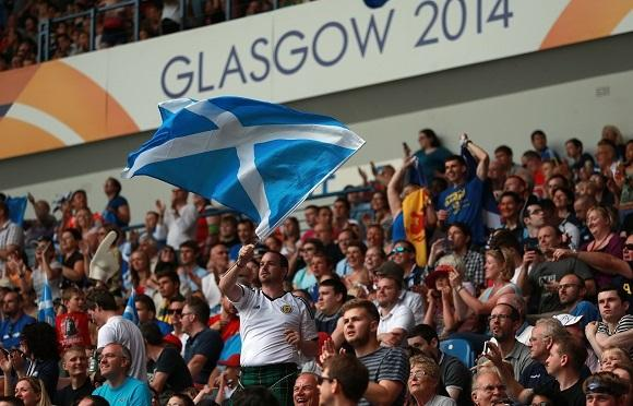 Fans at the Rugby Sevens at Ibrox