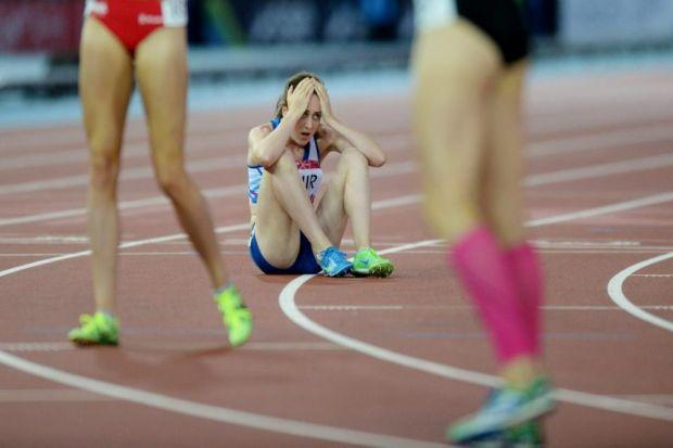 Laura Muir is left crestfallen on the Hampden track but the Scot has plenty of reasons to be excited about the future Photograph: Nick Ponty