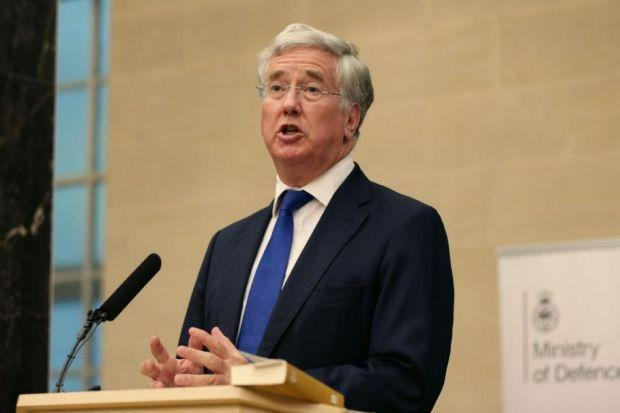 michael FALLON: Thanked HMS Enterprise's crew for their support