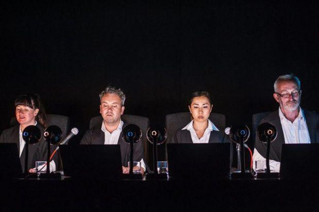 JUDGING PANEL: Four actors are in the dark as much as the audience in Horizontal Collaboration