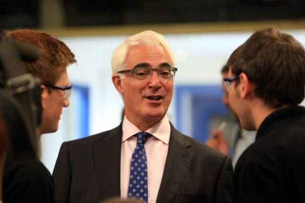 STRONG PERFORMANCE: The results of a snap poll conducted immediately after the debate suggested Alistair Darling was the winner of Tuesday night's debate. Picture: Steve Cox