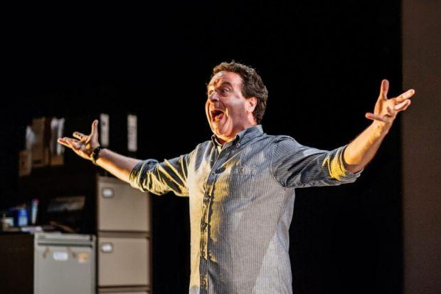 ONE-MAN SHOW: Mark Thomas in Cuckooed at the Traverse Theatre.