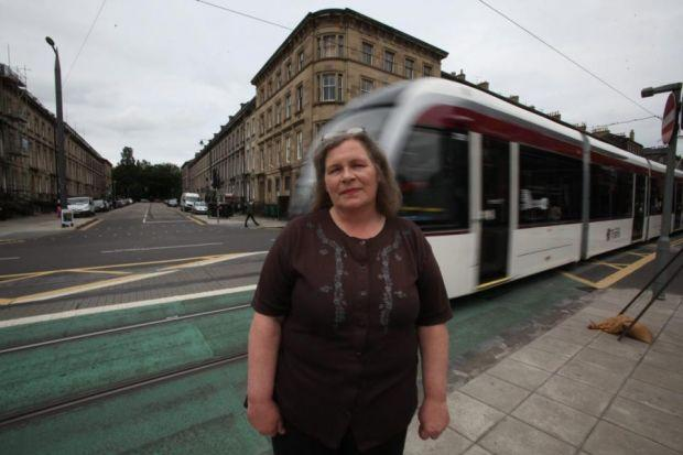 OPPONENT: Alison Adamson, from MacPherson Tartans and Kilts, said there appeared to be few non-pensioners using the trams. Picture: Steve Cox