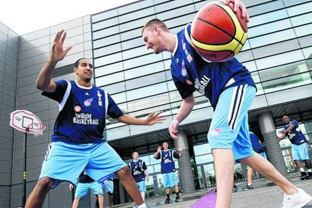 GB and Rocks team-mates Kieron Achara and Gareth Murray. Picture: SNS