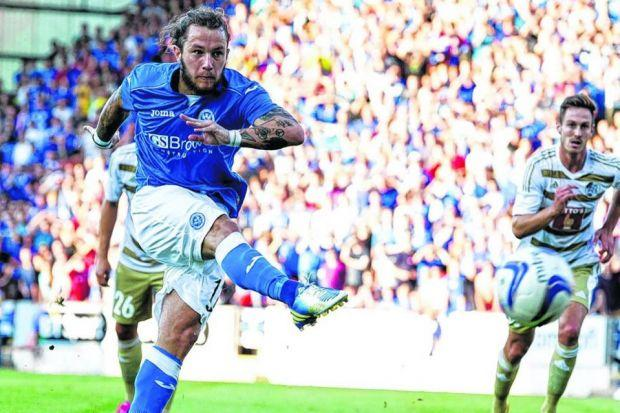 Stevie May, despite proving himself in the top flight, was not on Celtic's radar. Picture: SNS
