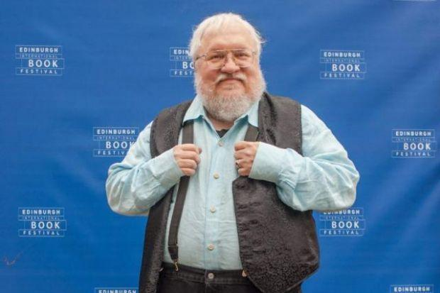 George RR Martin: The author addressed a packed audience last night.