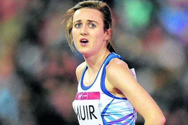 Laura Muir lost out on a medal in Glasgow after falling in the 1500m. Picture: Nick Ponty