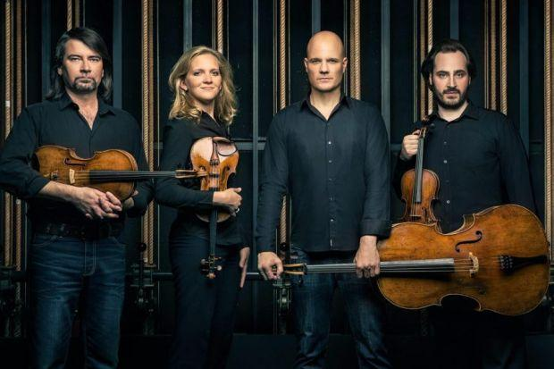 TALENT: The Artemis Quartet members share an airy, unshowy virtuosity.
