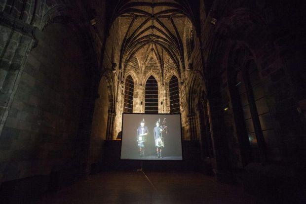 Craig Coulthard's film The Drummer And The Drone draws on the cold, dark atmosphere of Edinburgh's echoing Trinity Apse