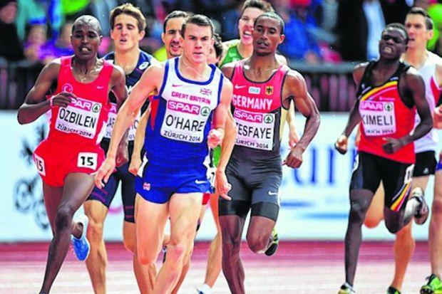 Chris O'Hare has become the first Scottish man to win a European 1500m medal. Picture: PA