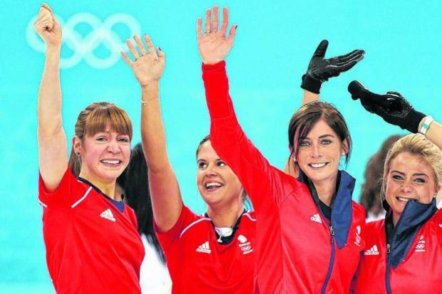 Claire Hamilton, Vicki Adams, Eve Muirhead and Anna Sloan celebrate winning bronze at this year's Winter Olympics. Curling would be well placed to hit the ground running in an independent Scotland. Picture: Andrew Milligan/PA