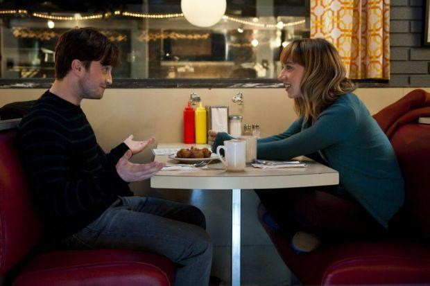 JUST GOOD FRIENDS? Daniel Radcliffe and Zoe Kazan in What If .