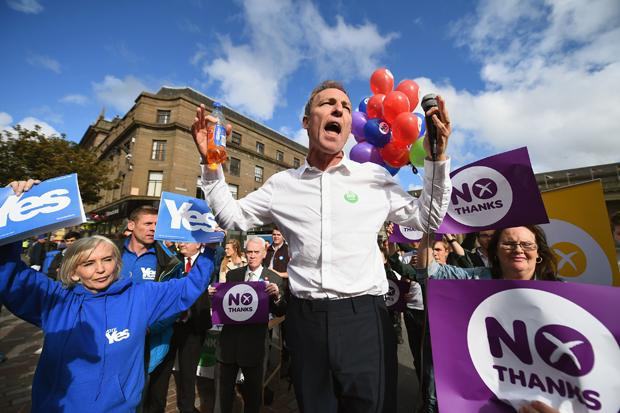 Jim Murphy has been hit with an egg
