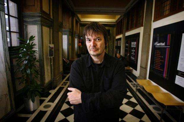 WILL HE BE A WRITE HALF? Ian Rankin will be in the team of Scottish crime novelists taking on the English at football next month. Picture: Martin Shields