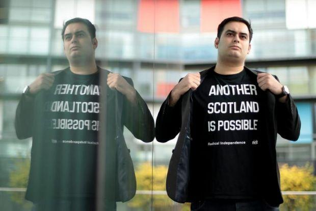 Jonath0n Shafi of the Radical Independence Campaign says the working class 'are not going to be taken for granted any more'Photograph: Mark Mainz