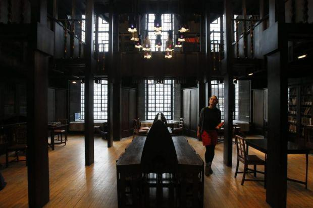 HOW IT LOOKED: The famous library was designed by Charles Rennie Mackintosh.