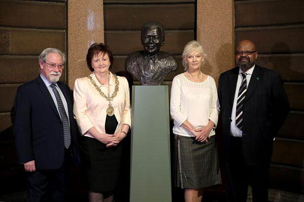 Nelson Mandela bust takes pride of place in City Chambers