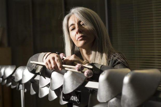 Evelyn Glennie has spent her life breaking new musical ground. Her Aluphone made its debut to much              acclaim at the London 2012 opening ceremony and a second version of it is due in concert in America next month	Photograph: Julie Howden