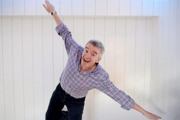 IMAGE BOOST: Michael O'Leary says efforts to improve the flying experience for Ryanair customers is paying off.