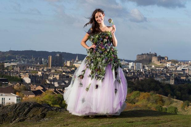4d59be8970c5 Scottish Wedding Show unveils dress made of thistles | HeraldScotland