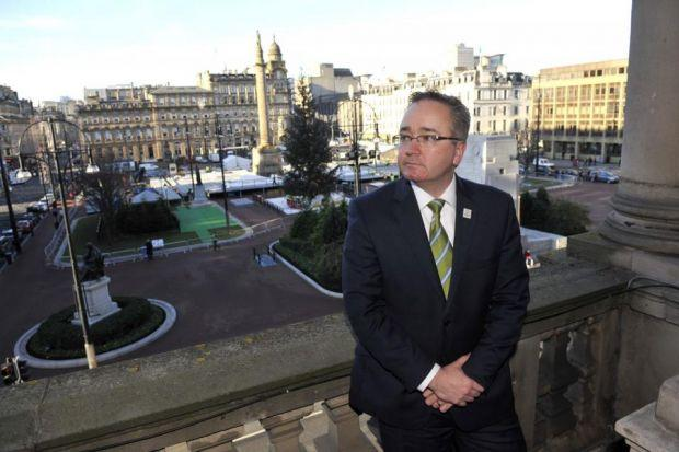 speech: Glasgow City Council leader Gordon Matheson said the SNP agenda placed an 'economic and social curse' on cities. Picture: Lenny Warren