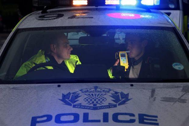 BREATH TEST: Motorists are being warned that the blood alcohol limit is to be reduced. Picture: Gordon Terris