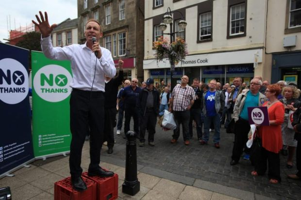 Jim Murphy on his 100-town tour Photograph: Colin Templeton