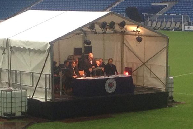 Image result for rangers AGM in tent