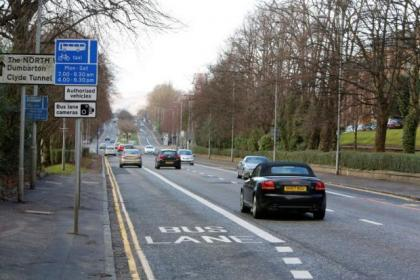 Glasgow drivers face 24/7 ban from all bus lanes