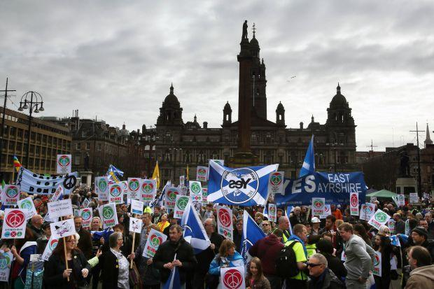 Thousands attend anti-Trident rally in Glasgow