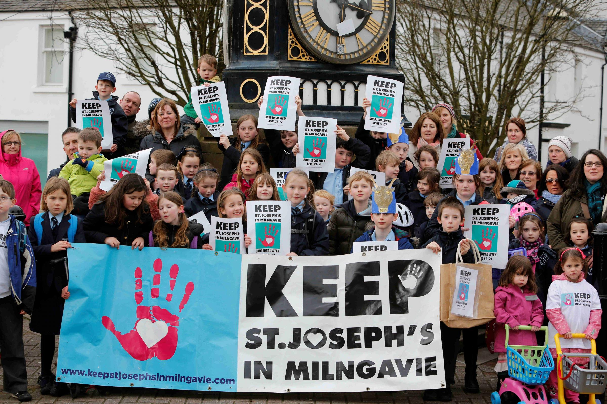Parents have mounted a campaign against the closure of St Joseph's Primary in Milngavie