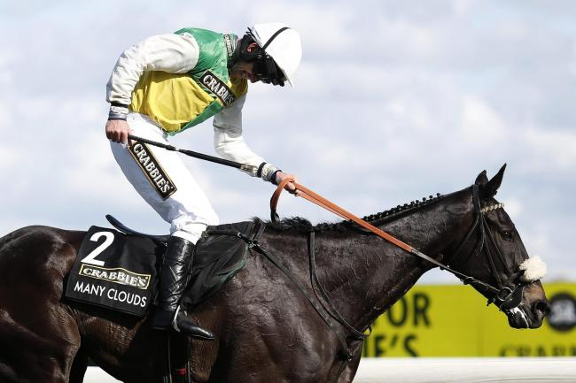 Leighton Aspell is delighted after riding Many Clouds to win the Grand National Photograph: Getty