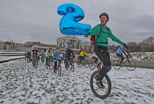 Cycle-pathic: Scottish cyclists gearing up for Pedal on Parliament 2015