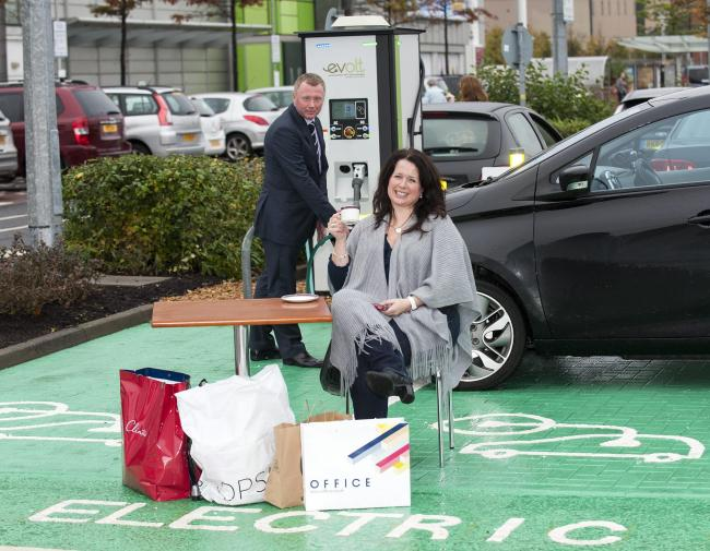 Karen Bain was one of the first customers to use Braehead's rapid charging point when it launched in 2013 with the promise of charging vehicles