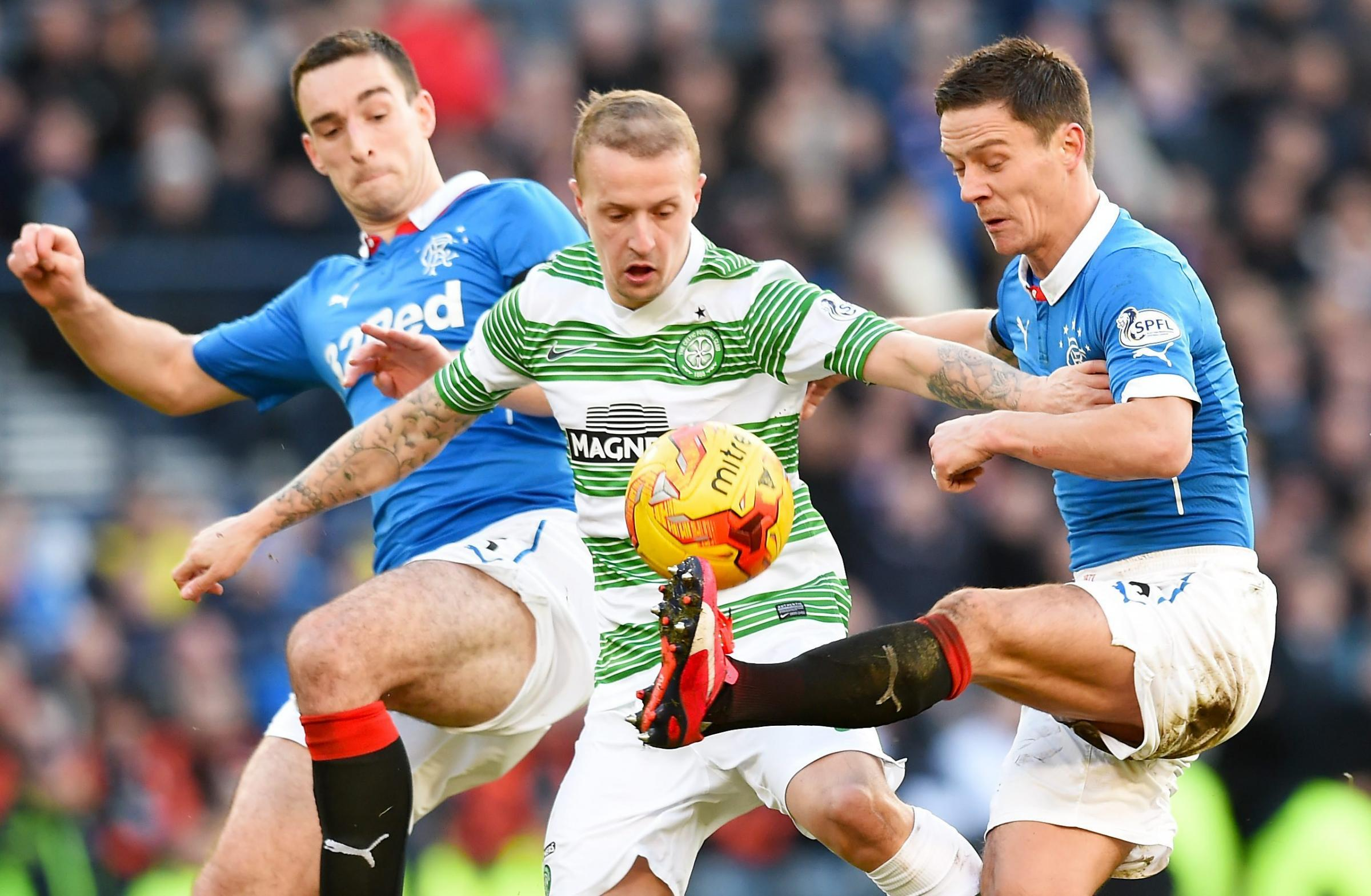 Ian Black, right, in action for Rangers against Celtic last season.