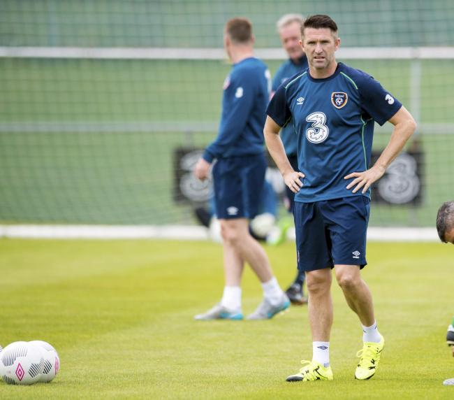 Robbie Keane in training with the Republic of Ireland. Picture: SNS