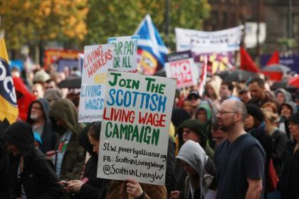 Thousands to join austerity protests in Glasgow and around the UK