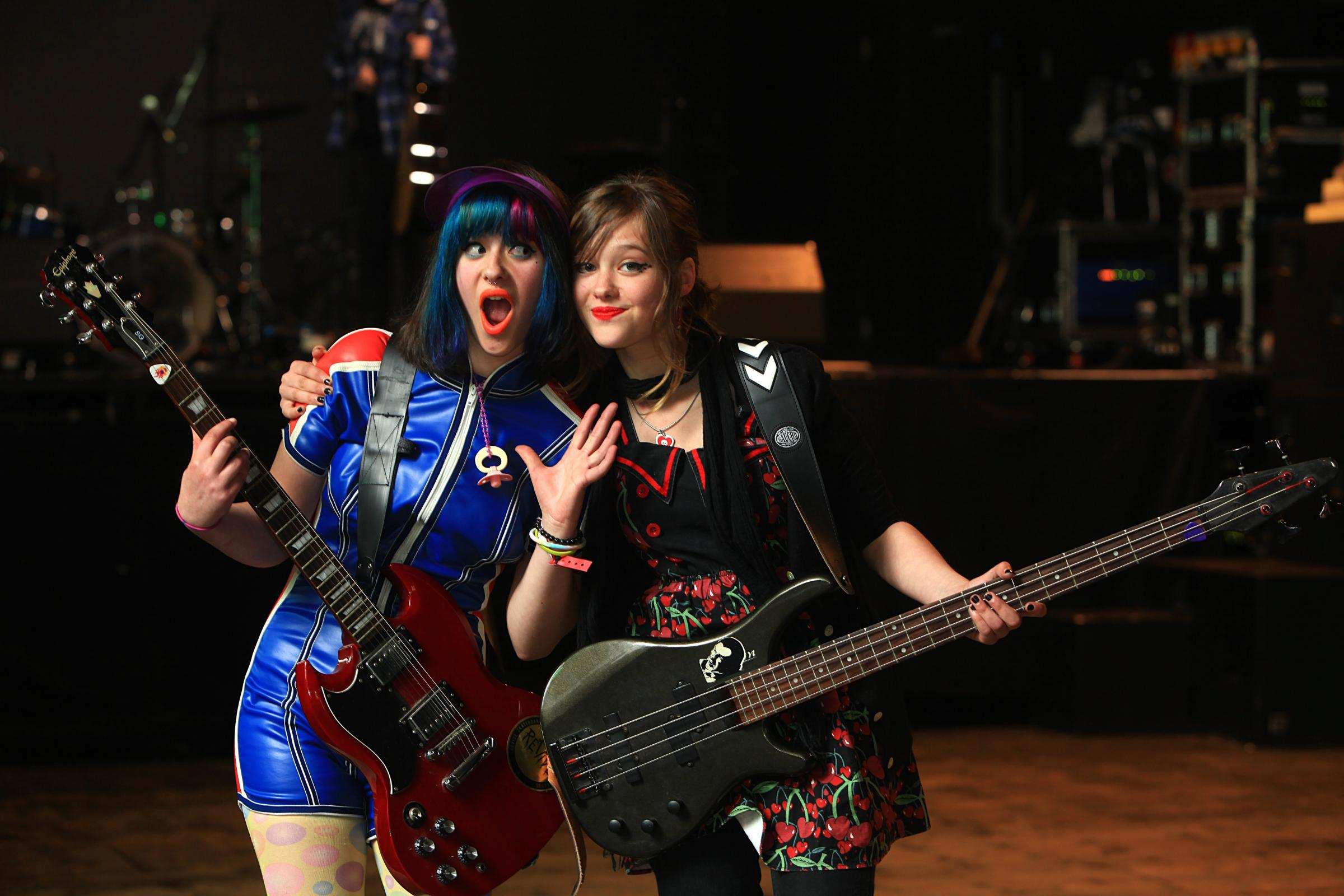 Riot grrl band Bratakus, featuring sisters Breagha Cuinn and Onnagh Cuinn, played at the Girls Rock Glasgow launch earlier this month Photograph: Steve Cox