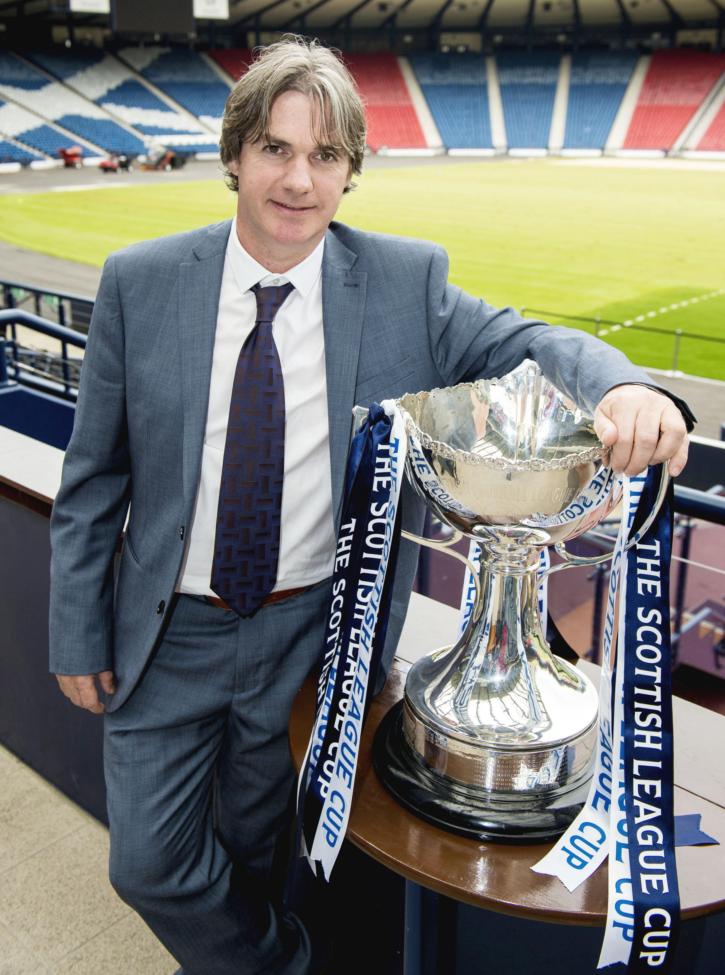 Former Aberdeen hero Joe Miller was at the League Cup first round draw at Hampden