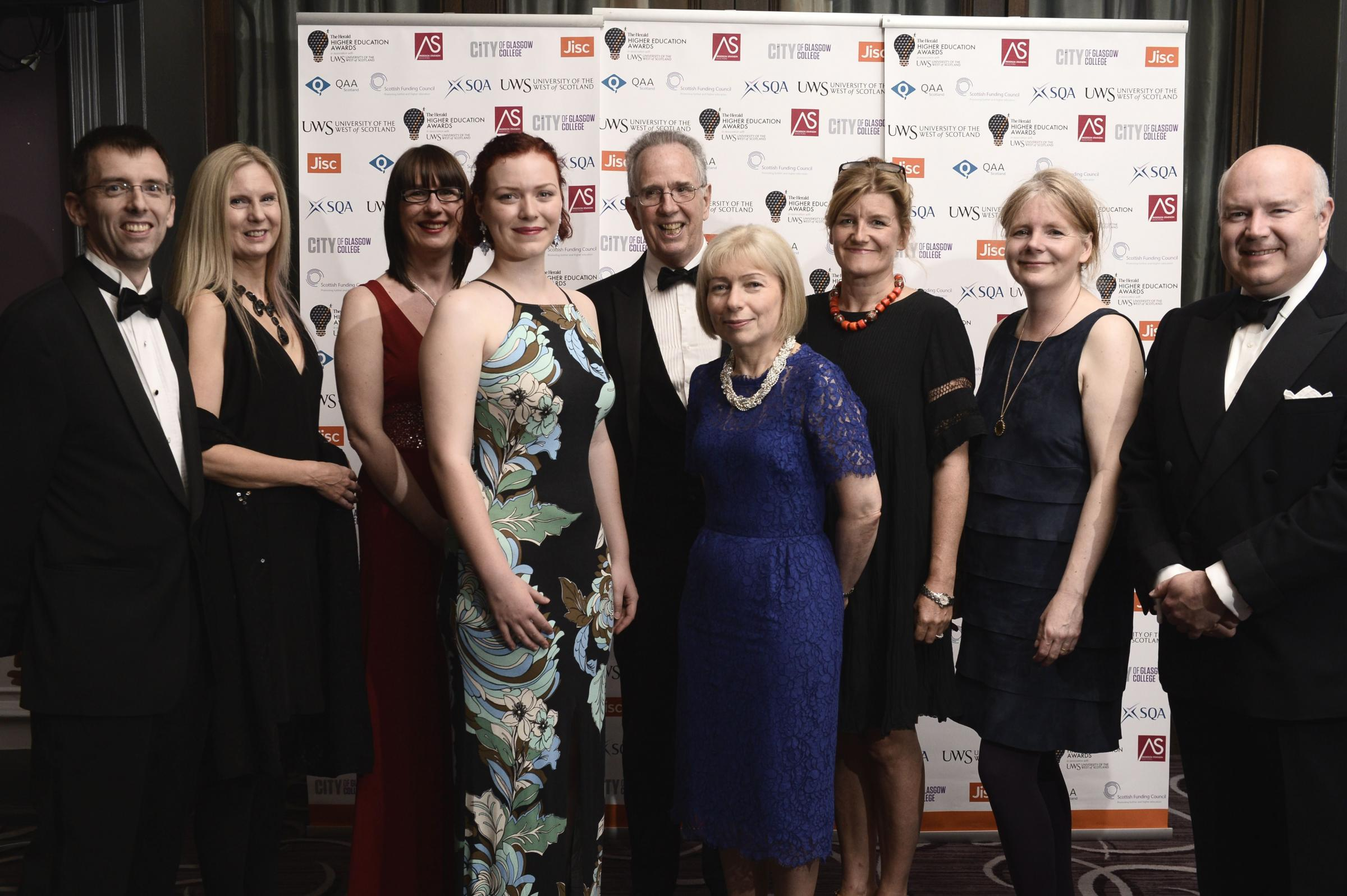 Staff from the University of Glasgow celebrate success at the awards