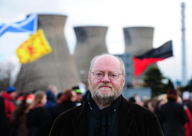 Friends of the Earth demonstration against fracking outside INEOS HQ in Grangemouth.Dr Richard Dixon of Friends of the Earth. (32447521)
