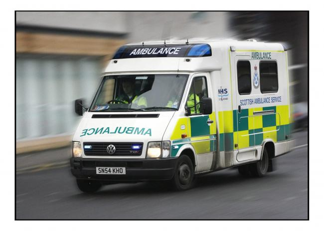 Stock shot of an Ambulance out on an emergency call out.. (52744623)